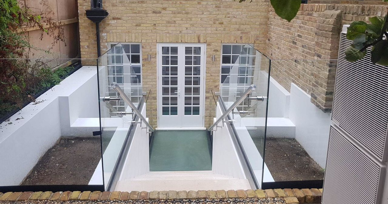 Architectural Balustrade roof light balcony Glass Design Plus London