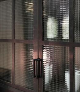 Cross Reed in Steel Door example Design Plus London