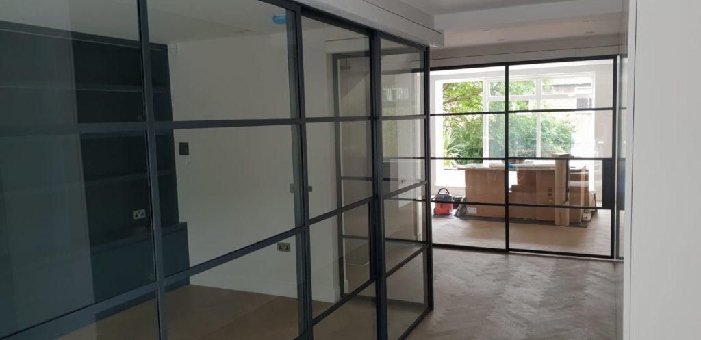 Black Steel sliding Door NW8 Design Plus London 1