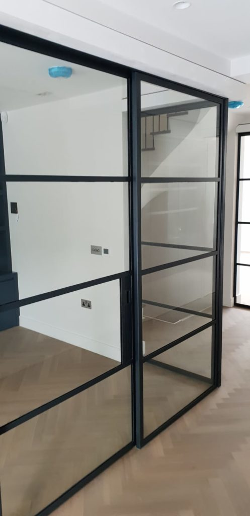 Black Steel sliding Door NW8 Design Plus London 5
