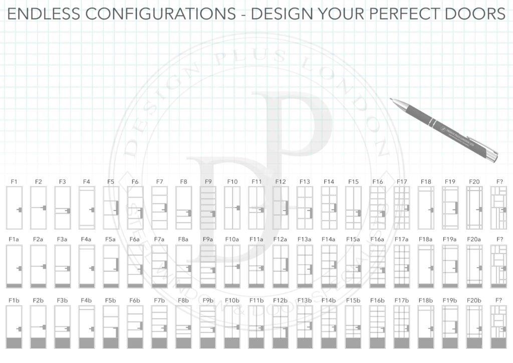 W20 Black Steel Door Designs