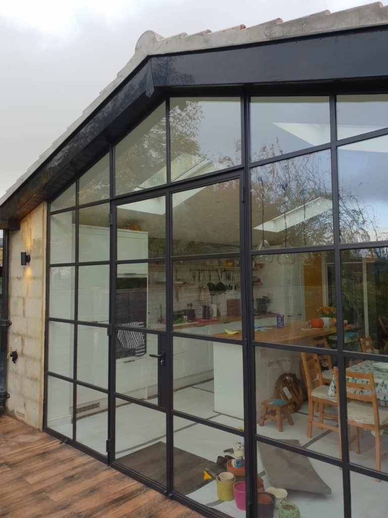 External Black Steel Doors Design Plus London