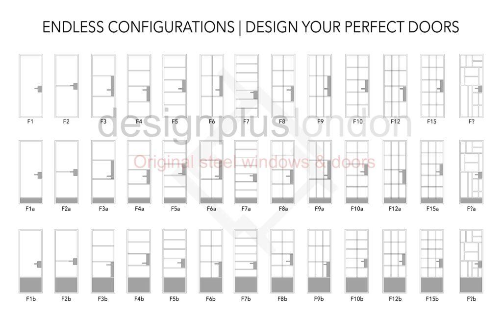 Black Steel Window and Door design Crittall inspired W20 W40 Design Plus London