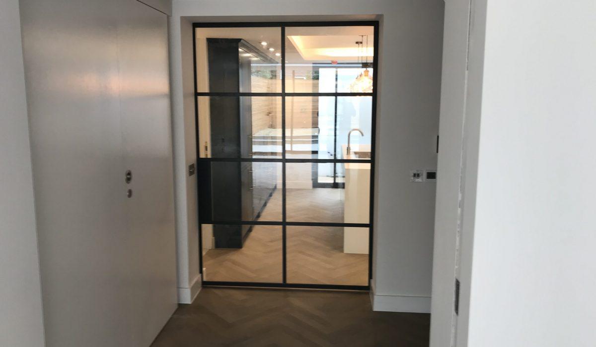 Crittall steel Pocket door Design Plus London
