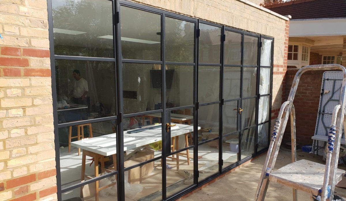 Industrial steel doors Deisgn Plus London 1