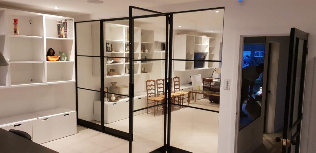 Internal Slim Steel Doors Design Plus London 03