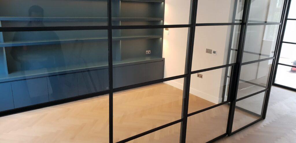 Original Steel Sliding Pocket Door NW8 Design Plus London 6