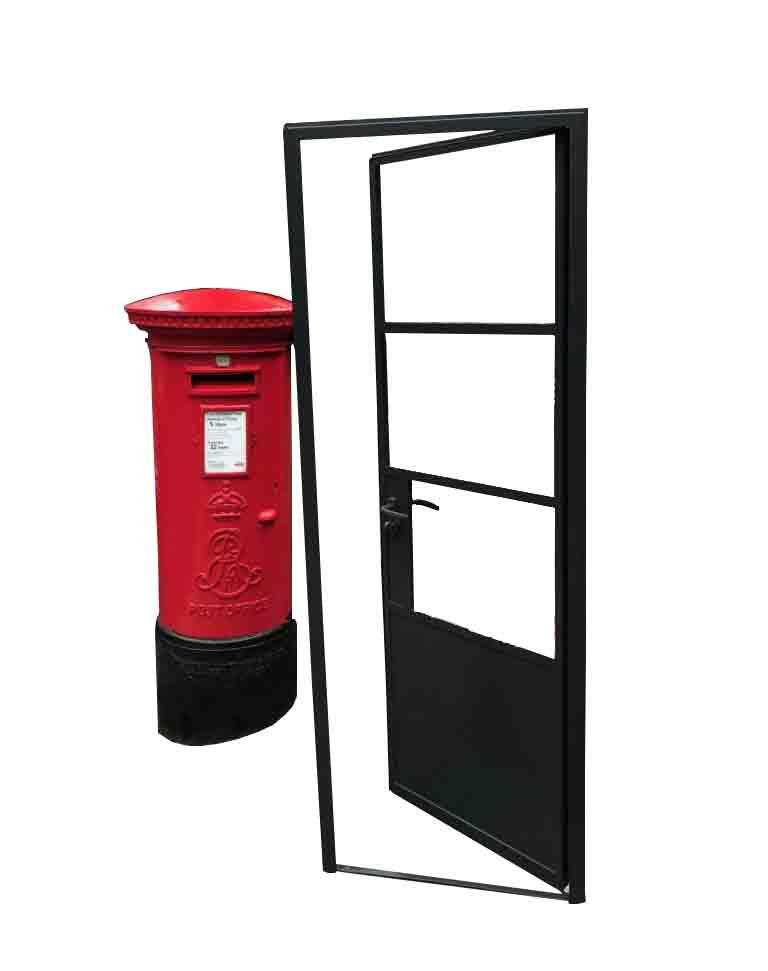 Design Plus London Black steel door store 1010