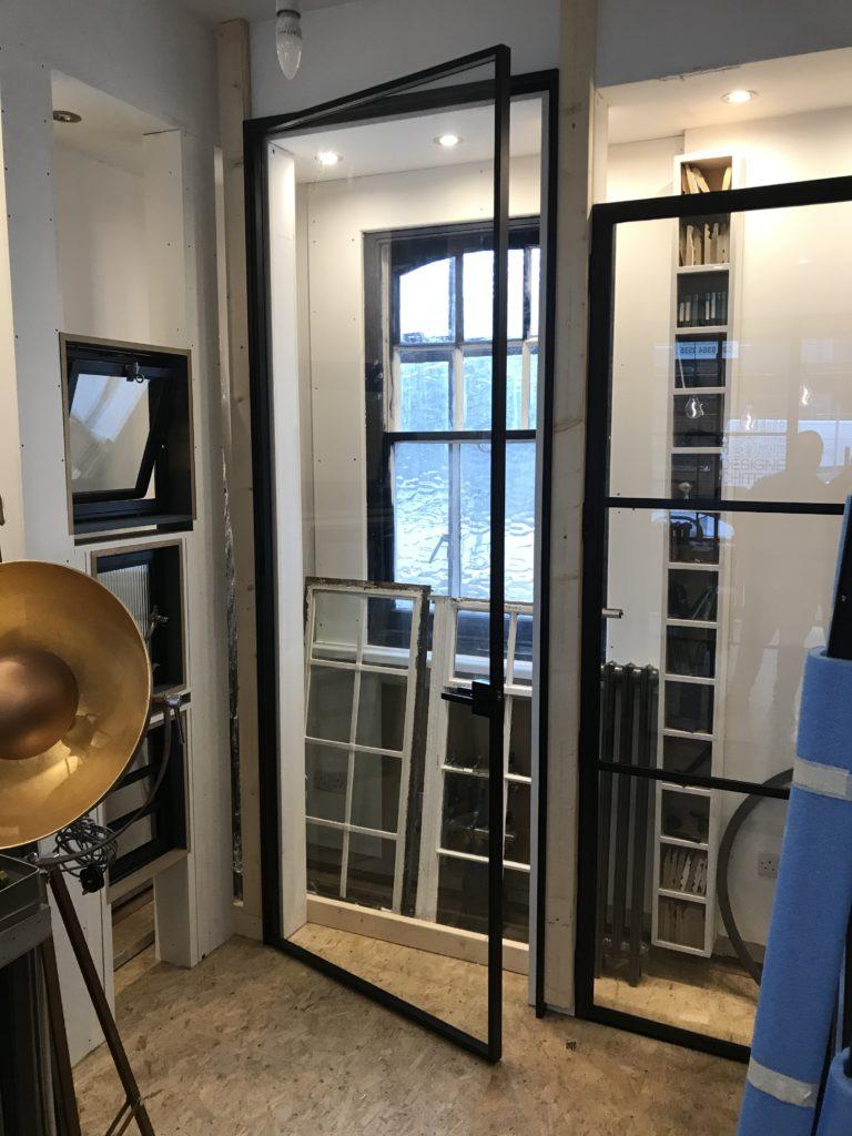Large Over Size Internal Black Steel Door Design Plus London B