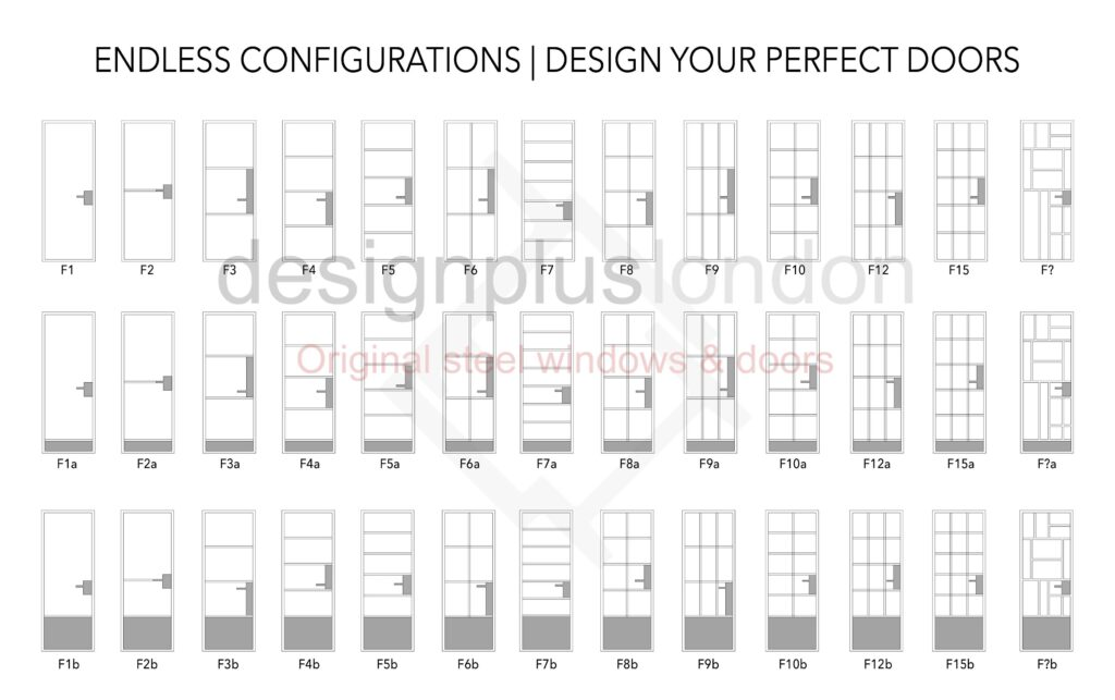 ORIGINAL STEEL DOORS DesignPlus W20 W40 W50 Thermal break